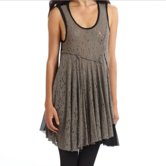 Free People Dresses & Skirts - RARE Free People Luscious Lagoon Slip in grey